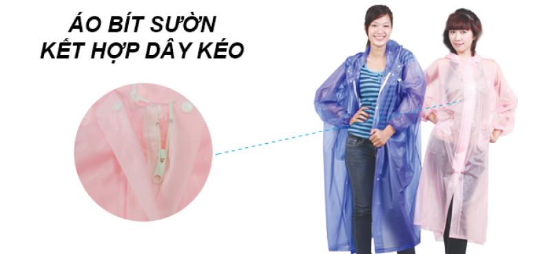 áo mưa dây kéo trong màu RANDO