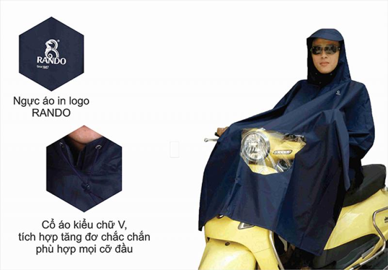 áo mưa poncho vải best có kiếng RANDO