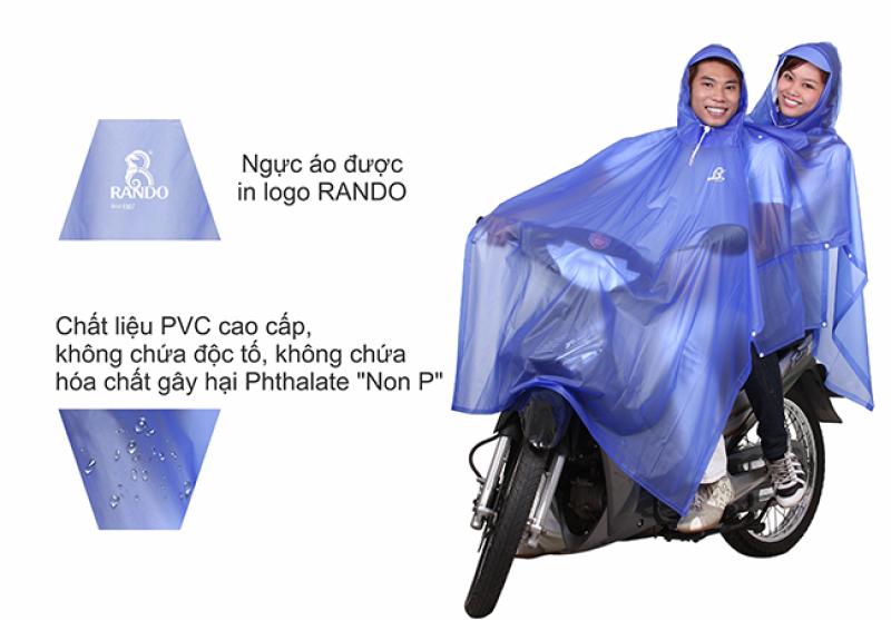 áo mưa 2 trong màu nón RANDO
