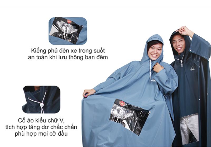 áo mưa poncho cao cấp kiếng RANDO
