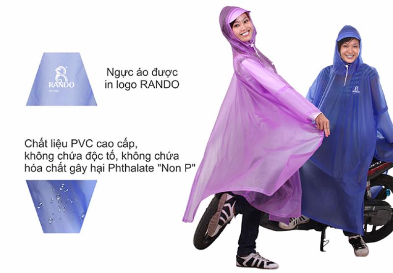 áo mưa cổ rùa trong màu RANDO