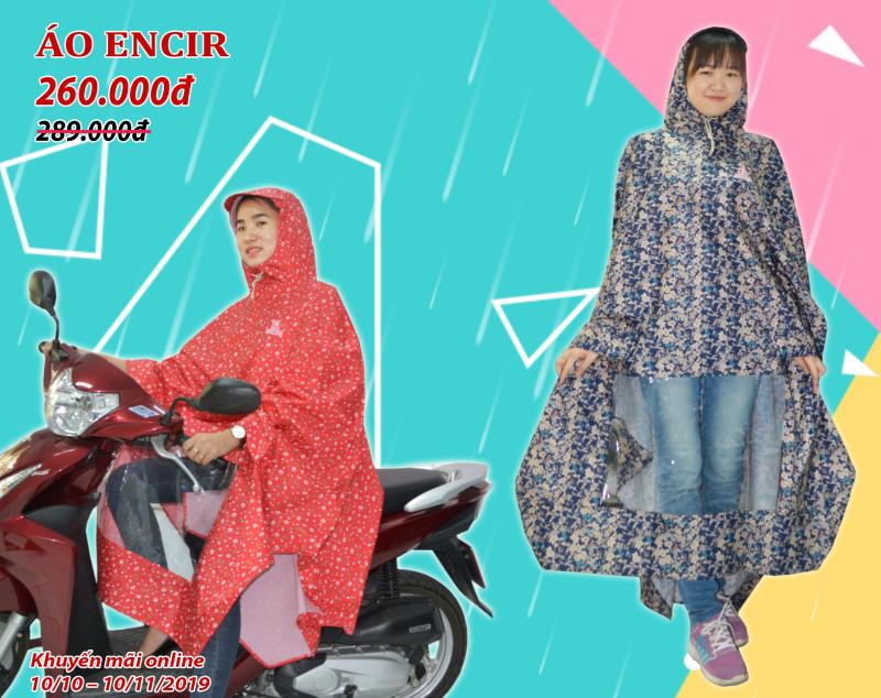Khuyến mãi tháng 10 áo mưa ENCIR bít sườn RANDO
