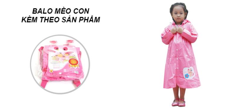 balo áo mưa trẻ em mèo con RANDO