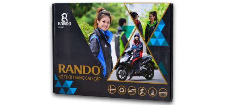 hộp dựng áo mưa bộ thời trang cao cấp RANDO