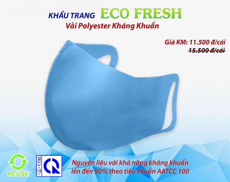 Khẩu trang vải kháng khuẩn ECO FRESH - RANDO