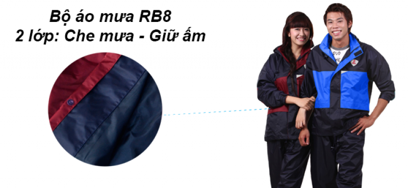 Bộ áo mưa 2 lớp RB8 RANDO