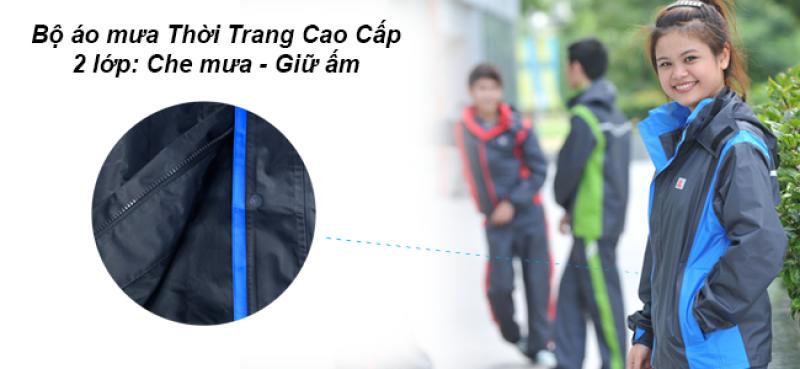 bộ áo mưa 2 lớp bộ thời trang cao cấp RANDO