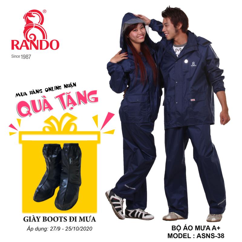 Mua bộ áo mưa A+ RANDO tặng GIÀY BOOTS đi mưa