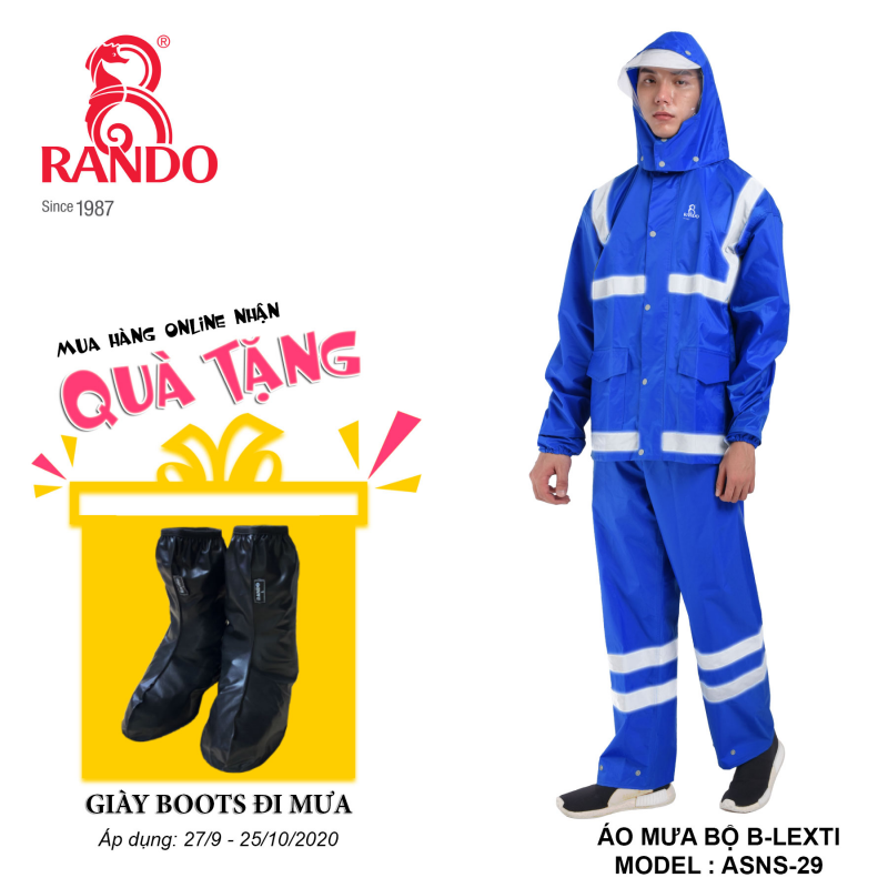 Mua bộ áo mưa B-LEXT RANDO tặng GIÀY BOOTS đi mưa