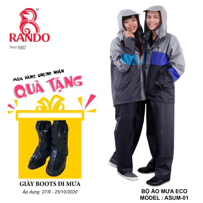 Mua bộ áo mưa ECO RANDO tặng GIÀY BOOTS đi mưa