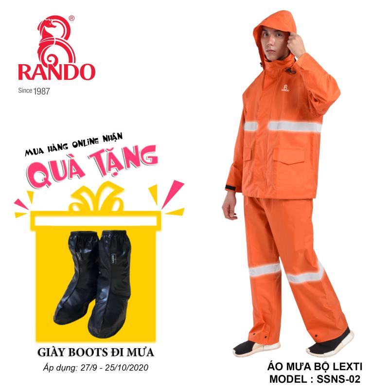 Mua bộ áo mưa LEXTI RANDO tặng GIÀY BOOTS đi mưa