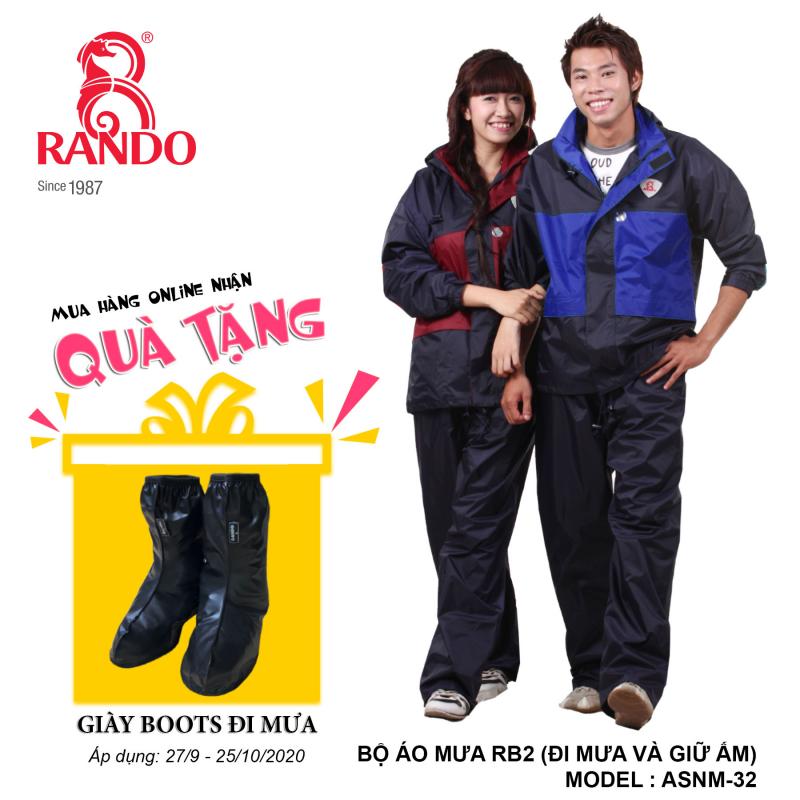 Mua bộ áo mưa RE2 RANDO tặng GIÀY BOOTS đi mưa