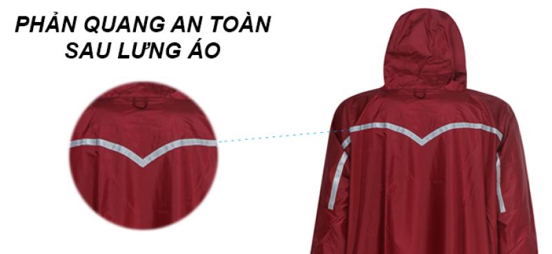 phản quang áo mưa bít sườn Bisur dây kéo RANDO