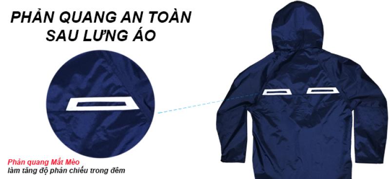 phản quang mặt sau bộ áo mưa A+ RANDO