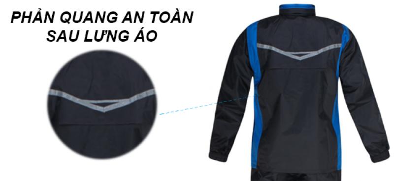 phản quang bộ áo mưa 2 lớp thời trang cao cấp RANDO