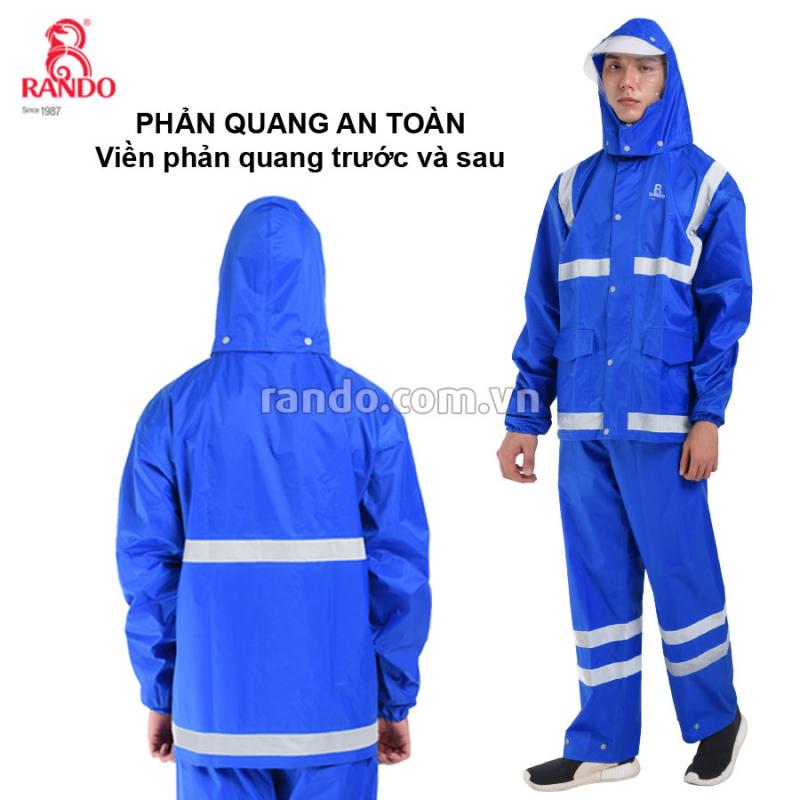 Áo mưa bộ Best phản quang RANDO 3
