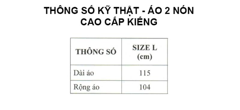 Thông số kỷ thuật áo mưa poncho cao cấp 2 nón kiếng RANDO