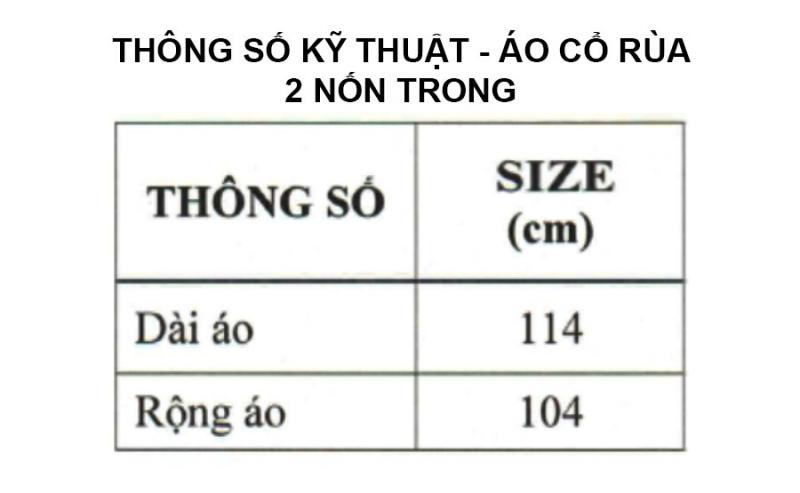 Thông số kỹ thuật áo mưa cổ rùa 2 nón trong màu