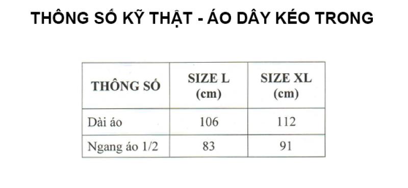 thông số kỹ thuật áo mưa dây kéo trong màu RANDO