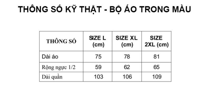Thông số kỹ thuật bộ áo mưa trong màu RANDO