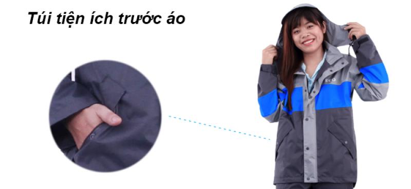 Túi tiện ích trước bộ áo mưa ECO RANDO