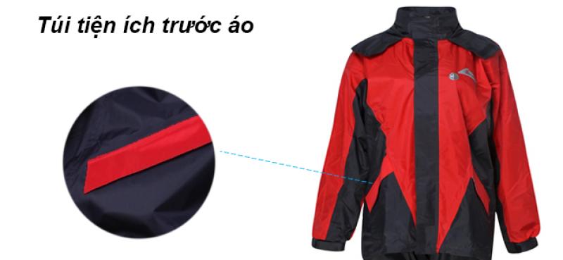 túi tiện ích trước bộ áo mưa 2 lớp GEM RANDO