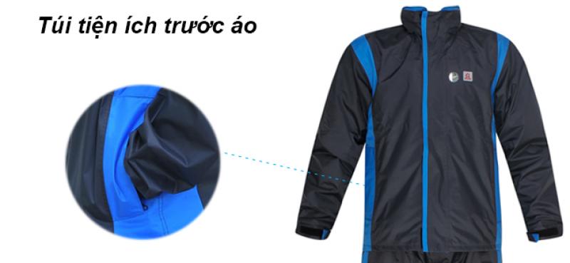 Túi trước bộ áo mưa 2 lớp thời trang cao cấp RANDO