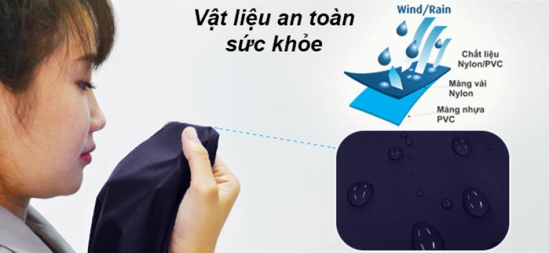 vật liệu an toàn sứa khỏe áo mưa rando