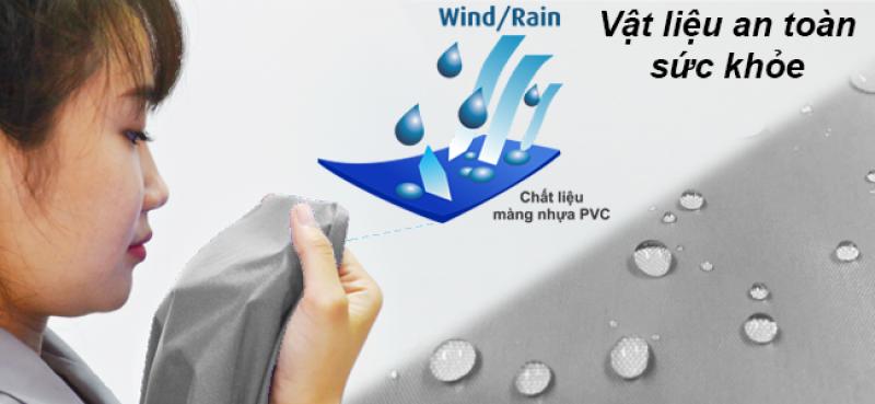 Vật liệu pvc an toàn sản xuất áo mưa RANDO