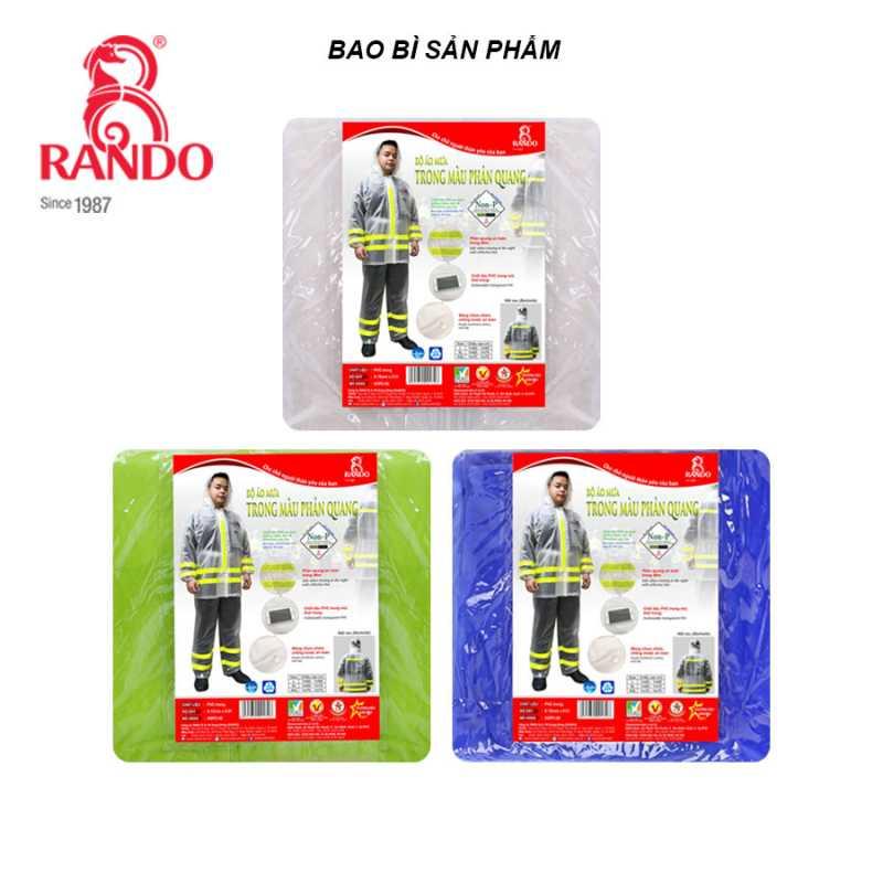 Bao bì - Bộ áo mưa Trong Màu Phản Quang