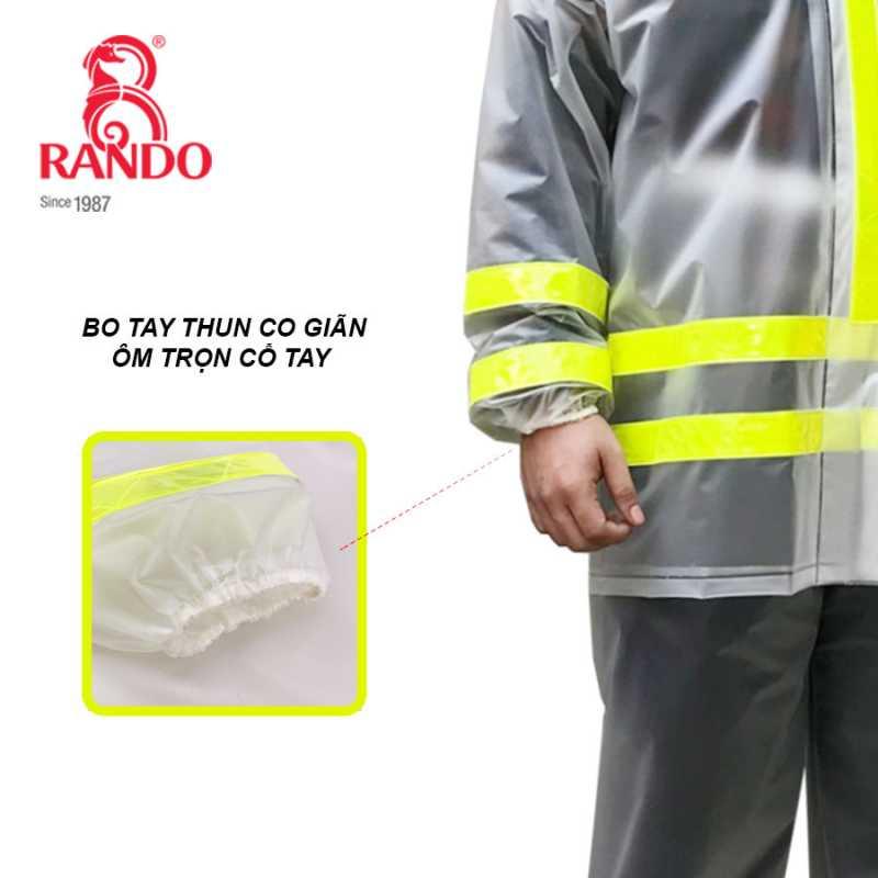 Bo tay - bộ áo mưa Trong Màu Phản Quang