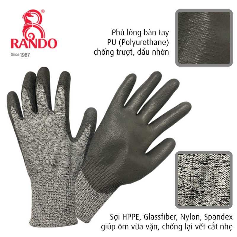 Găng Tay được làm từ chất liệu sợi HPPE*Spandex cho cảm giác vừa vặn và không có rút, cực kỳ thoải mái khi mang.