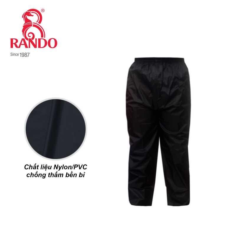 Quần đi mưa làm từ chất liệu vải Nylon/PVC