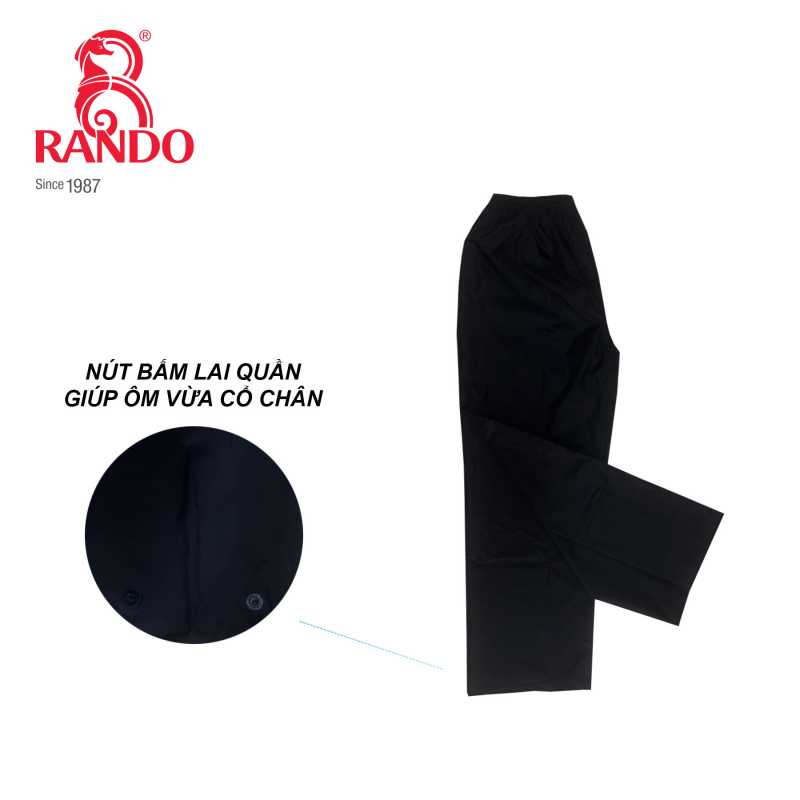 Nút bấm lai quần đi mưa giúp ôm vừa cổ chân