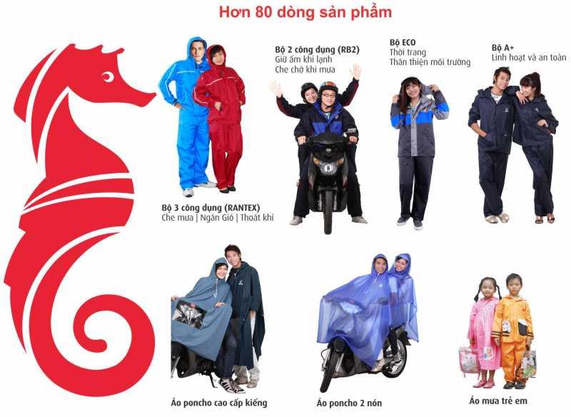 80 dòng sản phẩm áo đi mưa cho người lớn và trẻ em