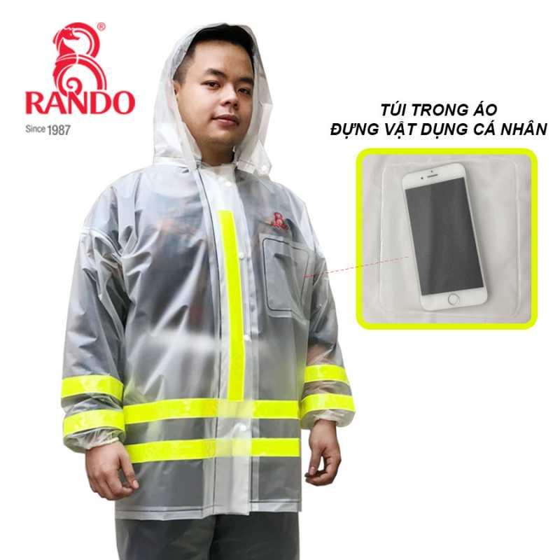 Túi trong - Bộ áo mưa Trong Màu Phản Quang