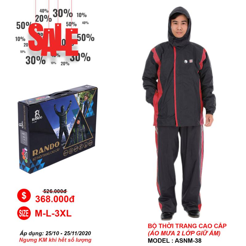 Áo mưa bộ thời trang cao cấp RANDO khuyến mãi 30%