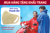 Tặng 01 Khẩu Trang FRESH AIR kháng khuẩn khi mua hàng