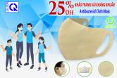 Ưu đãi giá lên đến 𝟐𝟓% 𝐎𝐟𝐟 sản phẩm Khẩu trang vải kháng khuẩn