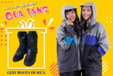 Mua áo mưa bộ ONLINE tặng ngay GIÀY BOOTS đi mưa