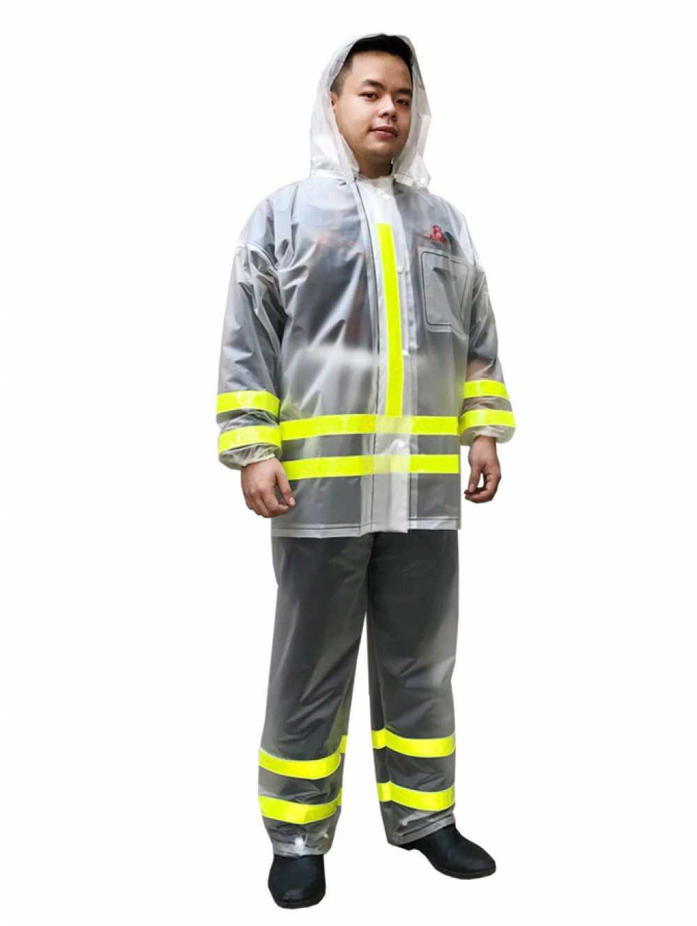 ÁO MƯA BỘ RANDO Bộ áo mưa Trong Màu Phản Quang